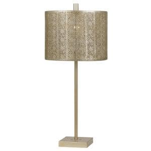 27 in. Warm Gold Metal Table Lamp