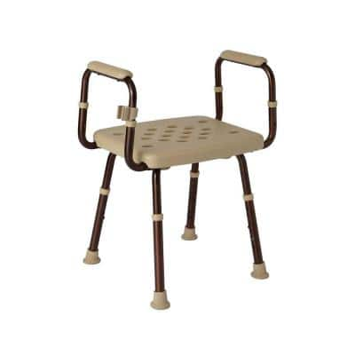 Elements Collection 22.4 in. W x 19.9 in. D Shower Seat with Microban