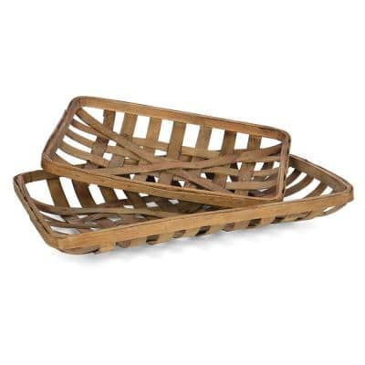 Decorative Tobacco Baskets (Set of 2)