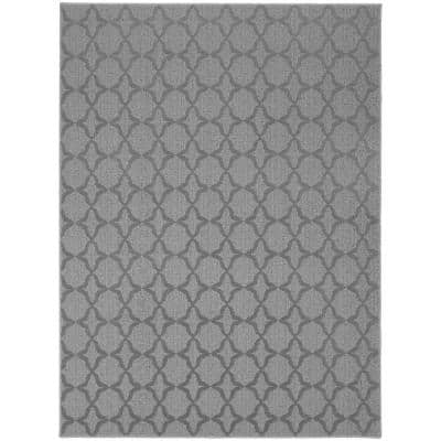 Sparta Silver 8 ft. x 10 ft. Area Rug
