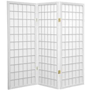 4 ft. White 3-Panel Room Divider