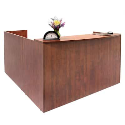 Legacy Cherry Single Pedestal Reception Desk