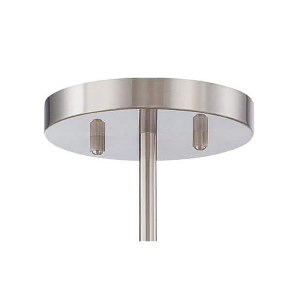 Minka Lavery Downtown Edison 4 Light Brushed Nickel Semi Flush Mount Light 4134 84 The Home Depot