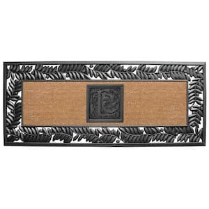 24 in. x 57 in. Sentinel Olive Rubber Coir Monogrammed L Door Mat