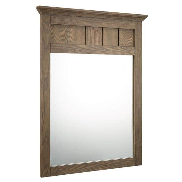 Home Decorators Collection 24 In W X, Oak Framed Mirrors Bathroom