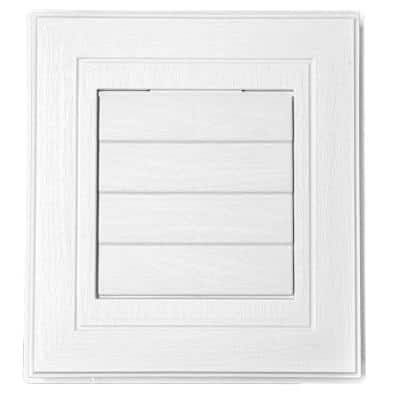 7.63 in. x 8.44 in. White Polypropylene Dryer Vent Mounting Block