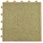 ClickBase Tan Hobnail Textured Loop 12.125 in. x 12.125 in. x 9/16 in. Raised Snap Together Carpet Tiles (20 Tiles/Case)