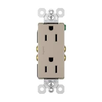 radiant 15 Amp 125 Volt Tamper Resistant Decorator Outlet, Nickel