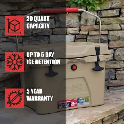 20-Quart High-Performance Cooler with Lockable Lid in Sahara Tan