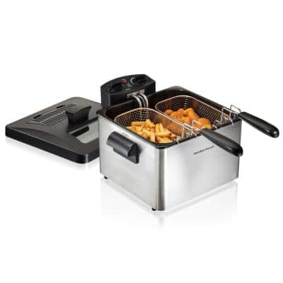 Professional-Style 3-Basket Deep Fryer