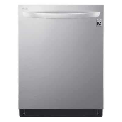 24 in. Stainless Steel Top Control Built-In Tall Tub Smart Dishwasher with QuadWash, TrueSteam, 3rd Rack, 42 dBA