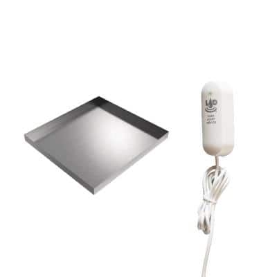 """Washer Drip Pan With LAD - 32"""" x 30"""" x 2.5"""" - Stainless Steel"""