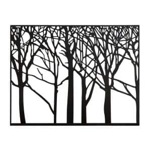 Modern Black Iron Tree and Branch Silhouette Wall Decor