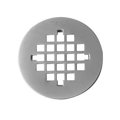 4-1/4 in. Round Universal Snap-In Shower Strainer in Brushed Nickel
