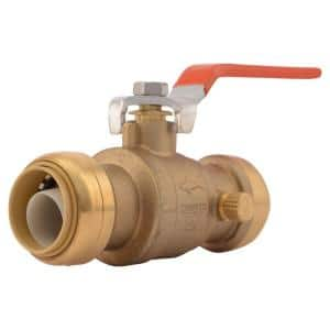 1 in. Push-to-Connect Brass Ball Valve with Drain