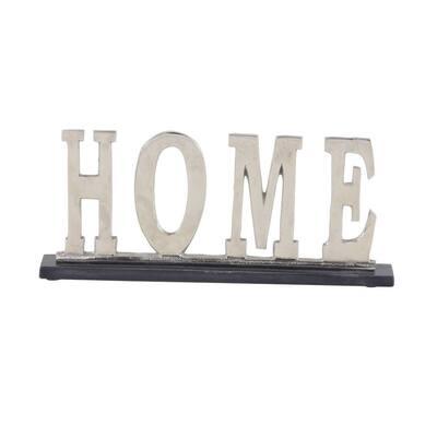 Silver Aluminum Glam Decorative Sign