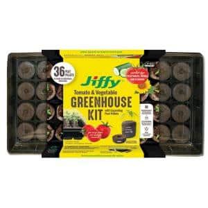 36 Large Peat Pellets Seed Starting Greenhouse Kit with SUPERthrive