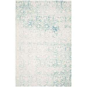 Passion Turquoise/Ivory 8 ft. x 11 ft. Floral Area Rug