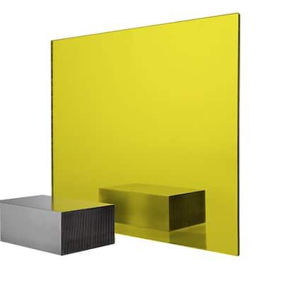24 in. x 48 in. x 0.118 in. Yellow Acrylic Mirror