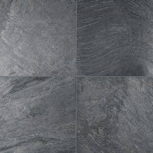 Ostrich Grey 16 in. x 16 in. Honed Quartzite Floor and Wall Tile (8.9 sq. ft. / case)