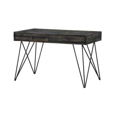 47 in. Rectangular Aspen Court Herringbone 2 Drawer Writing Desk with Built-In Storage