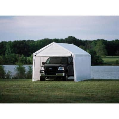 MaxAP 10 ft. x 20 ft. White Gazebo Canopy 2-in-1 Enclosure Kit