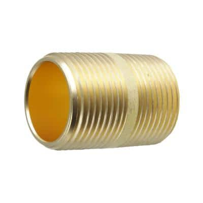 3/4 in. x 1-1/2 in. MIP Brass Nipple Fitting