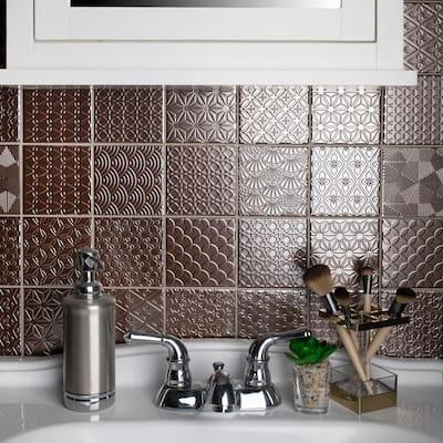 Spirit Copper 11-5/8 in. x 11-5/8 in. x 6 mm Porcelain Mosaic Tile (0.94 sq. ft. /each)