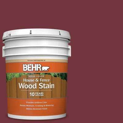 5 gal. #S130-7 Cherry Cola Solid Color House and Fence Exterior Wood Stain