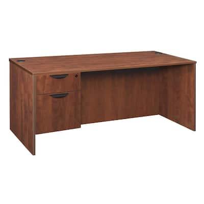 Magons 71 in. Cherry Single Pedestal Desk