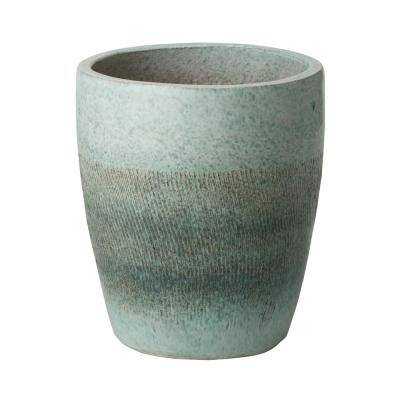 Bullet 15.5 in. Coastal Splash Ceramic Round Planter