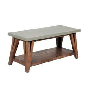 Brookside 40 in. W Wood with Concrete-Coating Entryway Bench