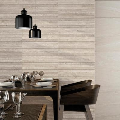 Vancouver White 13 in. x 25 in. Glazed Porcelain Decorative Wall Tile (10.76 sq. ft./case)