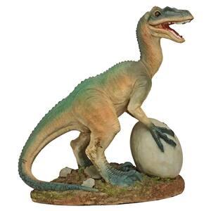 14.5 in. H The Egg Beater Raptor Dinosaur Statue