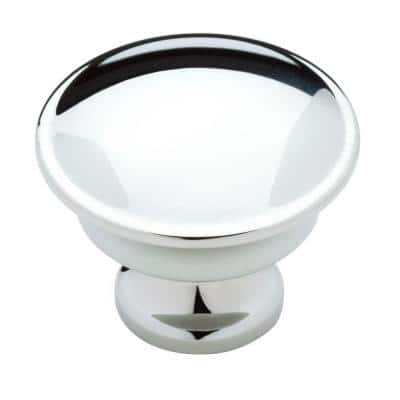 Silverton 1-1/4 in. (32 mm) Polished Chrome Round Cabinet Knob