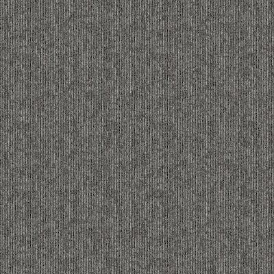 Crescent Creek Instant Replay Textured 24 in. x 24 in. Carpet Tile (24 Tiles/Case)