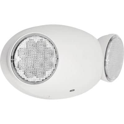 PE2EU Collection 1-Watt White Integrated LED Emergency Light