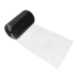2 ft. x 100 ft. 16-Gauge Black PVC Coated Welded Wire Fence with 1 in. x 1 in. Mesh