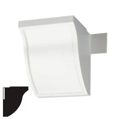 4 in. x 5-7/8 in. x 4 in. Economy Connector Plastic Block Crown Moulding