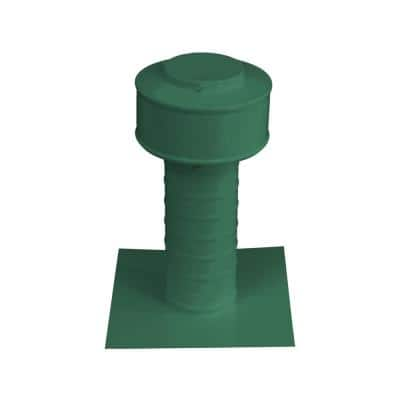 Keepa Vent 3 in. Dia Aluminum Roof Vent for Flat Roofs in Green