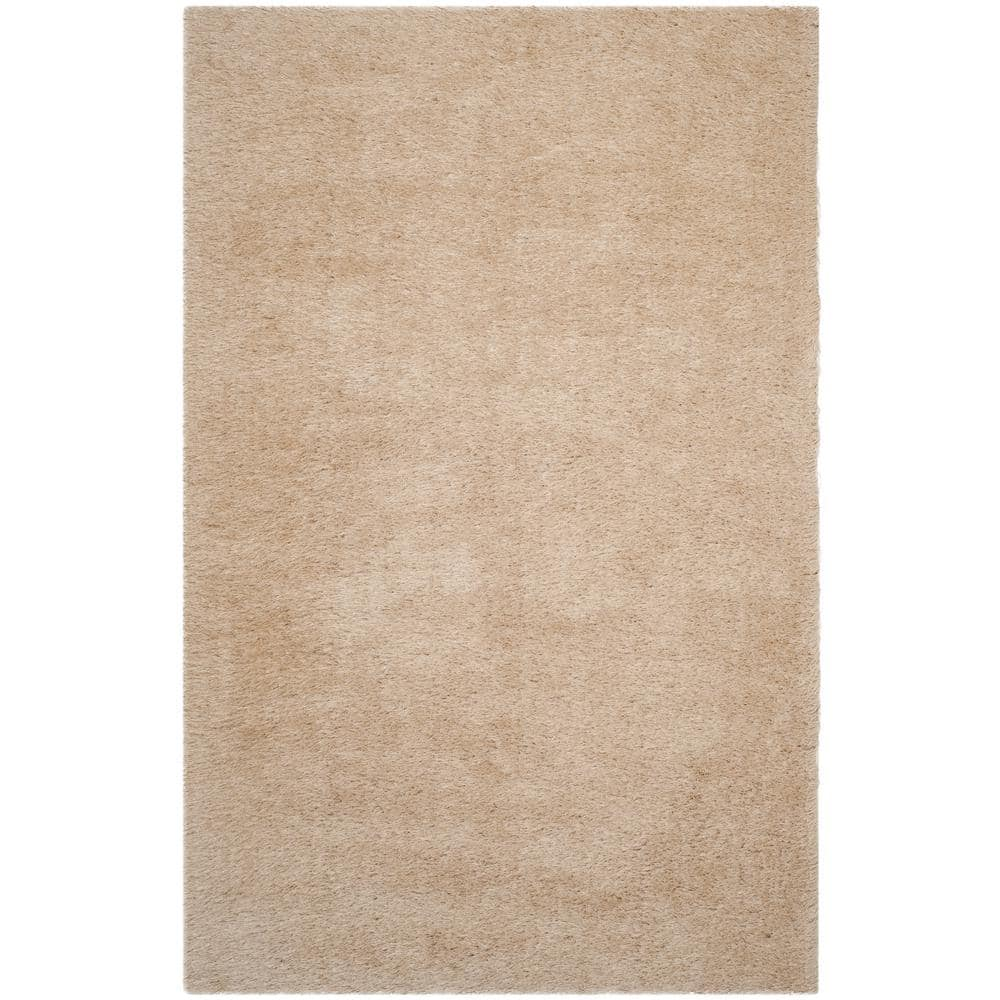 Safavieh Venice Shag Champagne 5 Ft X 8 Ft Area Rug Sg256c 5 The Home Depot