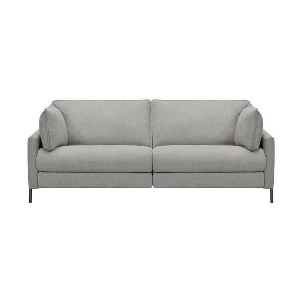 Armen Living Juliett 80 in. Modern Gray Fabric Power Reclining Sofa | The Home Depot