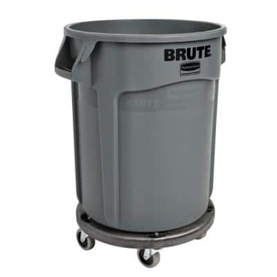 Brute 32 Gal. Trash Can Plus Dolly Combo Pack