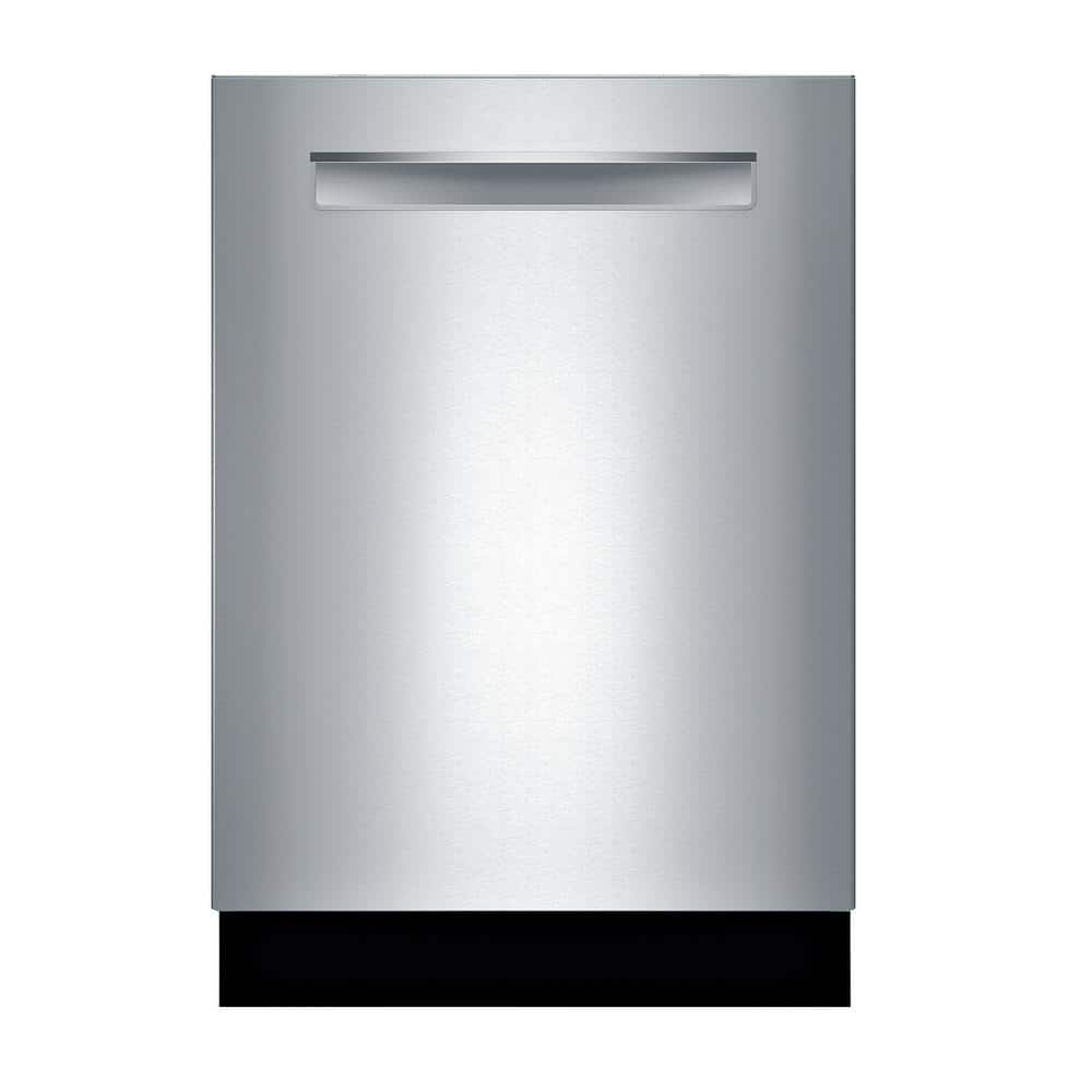 Bosch 500 Series 24 In Stainless Steel Top Control Tall Tub Pocket Handle Dishwasher With Stainless Steel Tub Autoair 44dba Shpm65z55n The Home Depot