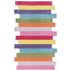 Pantone Colorful Stripes Playmat Multi 3 ft. x 5 ft. Area Rug