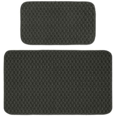 Town Square Cinder Gray 2 ft. x 3 ft. 4 in. 2-Piece Rug Set