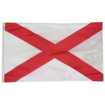 5 ft. x 8 ft. Nylon Alabama State Flag