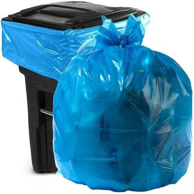 55 Gallon to 60 Gallon Blue Recycling Bag (100-Count)