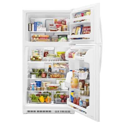 20 cu. ft. Top Freezer Refrigerator in White