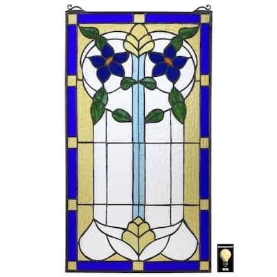 Primrose Art Nouveau Tiffany-Style Stained Glass Window Panel